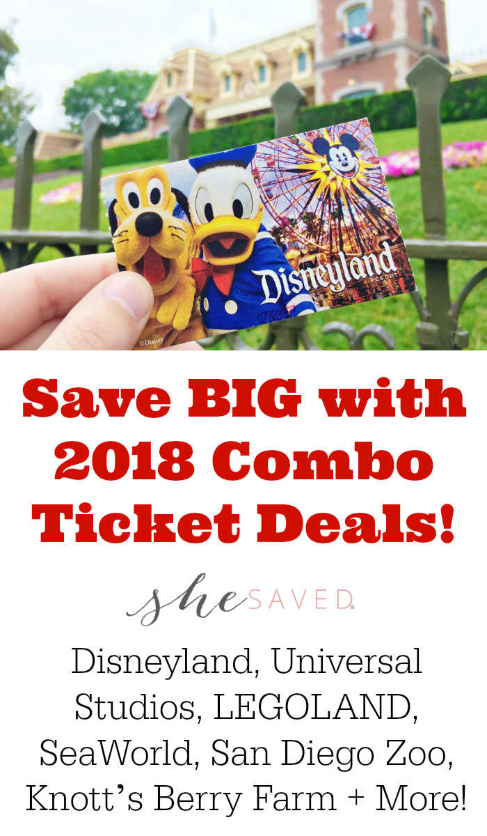 California Dreaming? Save BIG with 2018 combo ticket deals to Disneyland, Universal Studios, LEGOLAND, SeaWorld, San Diego Zoo and MORE!