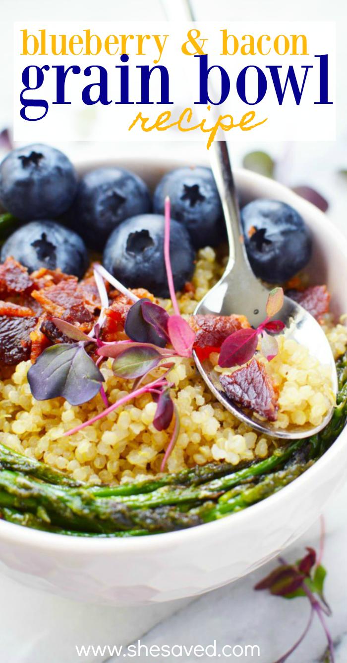 Blueberry and Bacon Grain Bowl Recipe