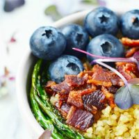 Blueberry and Bacon Grain Bowl Recipe