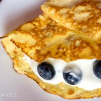 Gluten-Free Crepes with Lemony Yogurt and Blueberries