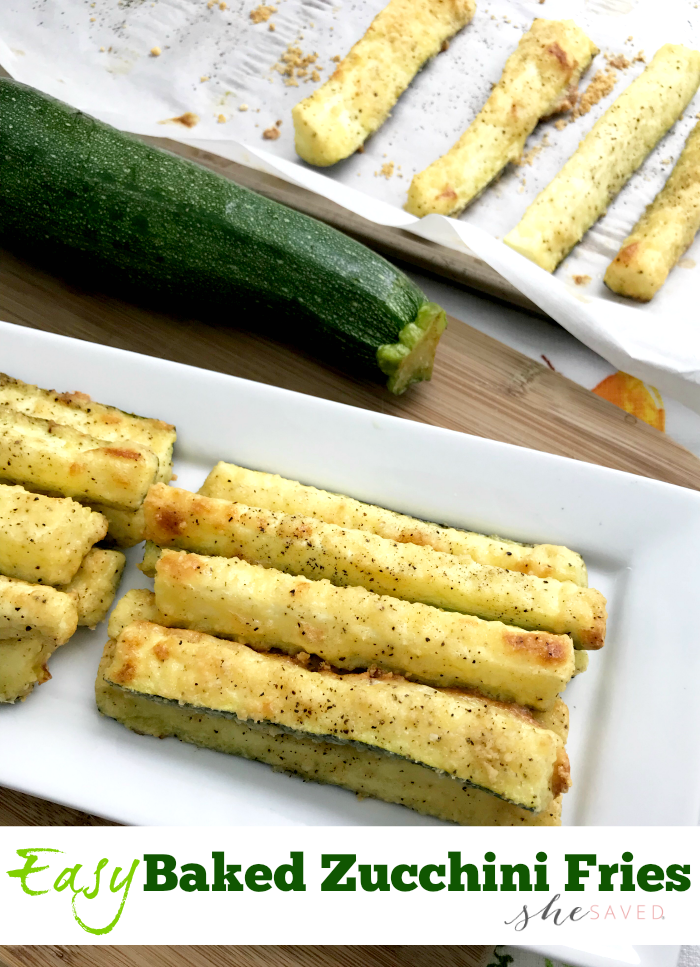 What to do with all that zucchini? This Baked Zucchini Fries Recipe is perfect (and fantastic!)