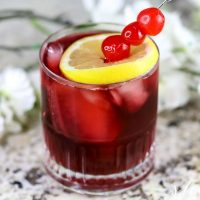 Bourbon Cherry Pomegranate Cocktail Recipe