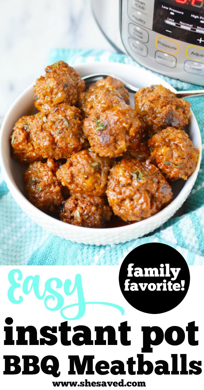 EASY Instant Pot Meatballs recipe
