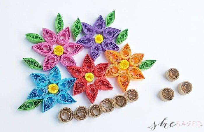 Paper Quilled Spring Flower Basket Card | 453x700