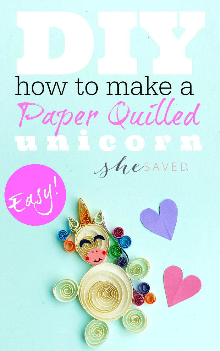 Such a fun and easy craft! This DIY Paper Quilled Unicorn is the perfect quilling project for beginners!