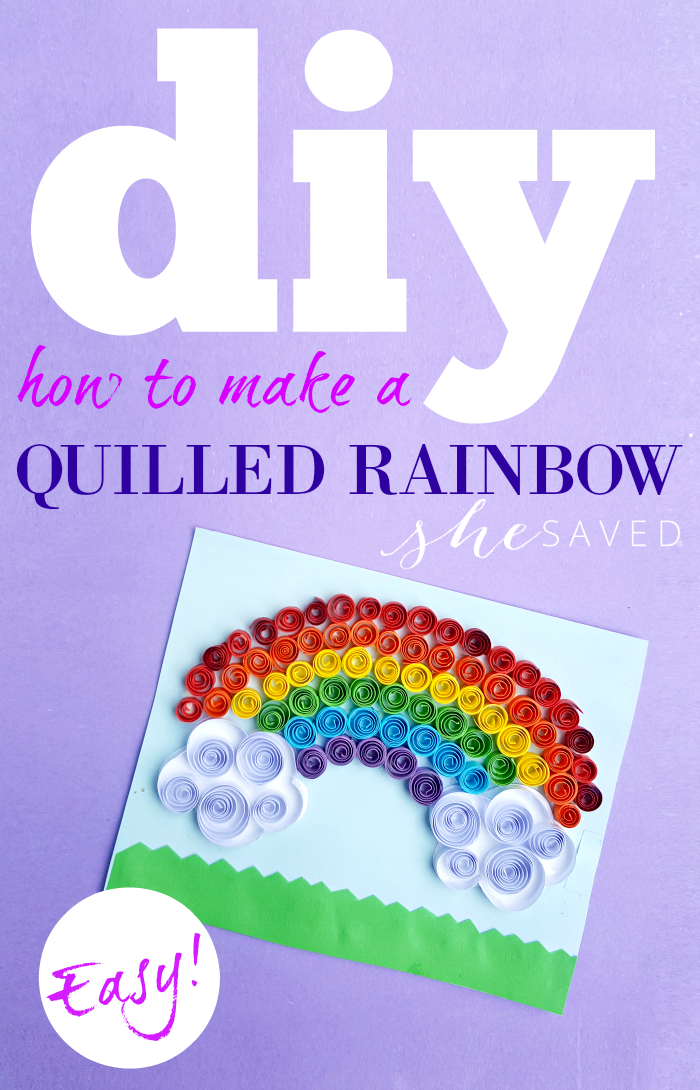 Easy and fun paper craft project! This DIY guide will teach you how to make a quilled rainbow!