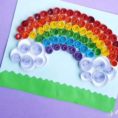 Paper Quilling Project:Quilled Rainbow Craft