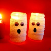 Easy Halloween Crafts for Kids: Mummy Candle Holder