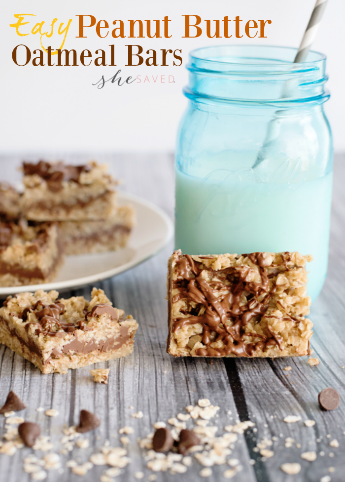 These EASY Peanut Butter Oatmeal Bars are no-bake and will be your new favorite!