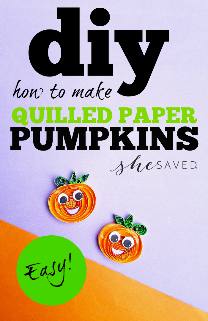 So fun for Halloween these easy Quilled Paper Pumpkins are the perfect DIY craft project for fall!