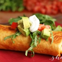 Easy Rotisserie Chicken Chimichanga Recipe