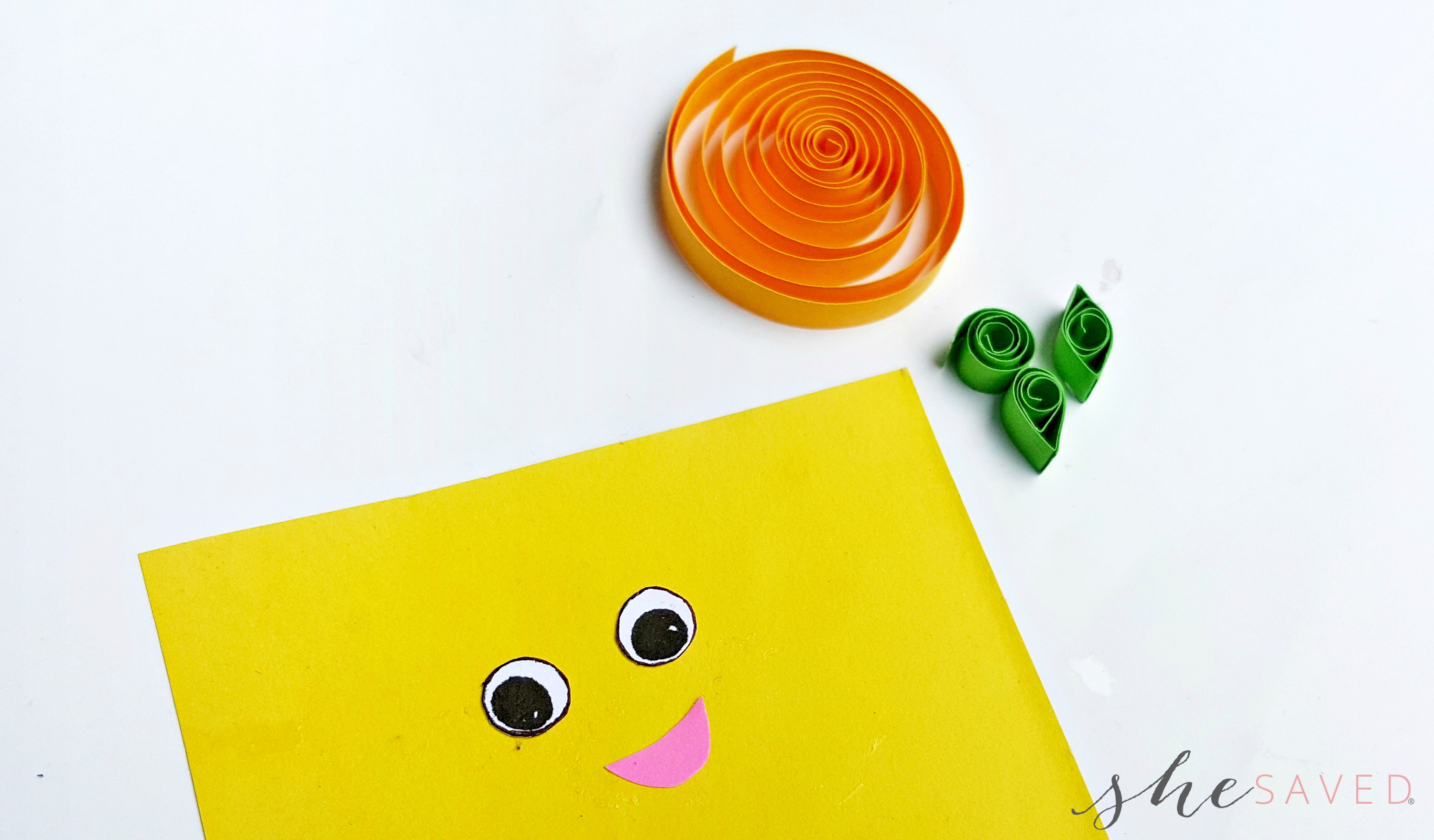 Paper Quilling Craft  Quilled Pumpkin - SheSaved® 0b65a4b7c44c