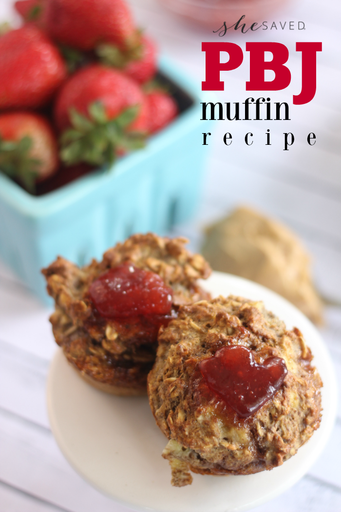 The perfect (and easy!) snack for protien, this PBJ Muffin recipe is a mom win for sports and snacks!
