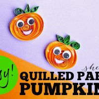 Paper Quilling Craft: Quilled Pumpkin