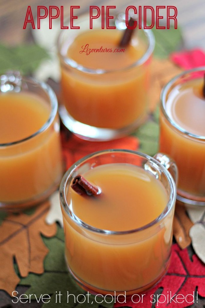 apple pie cider fall drink recipes