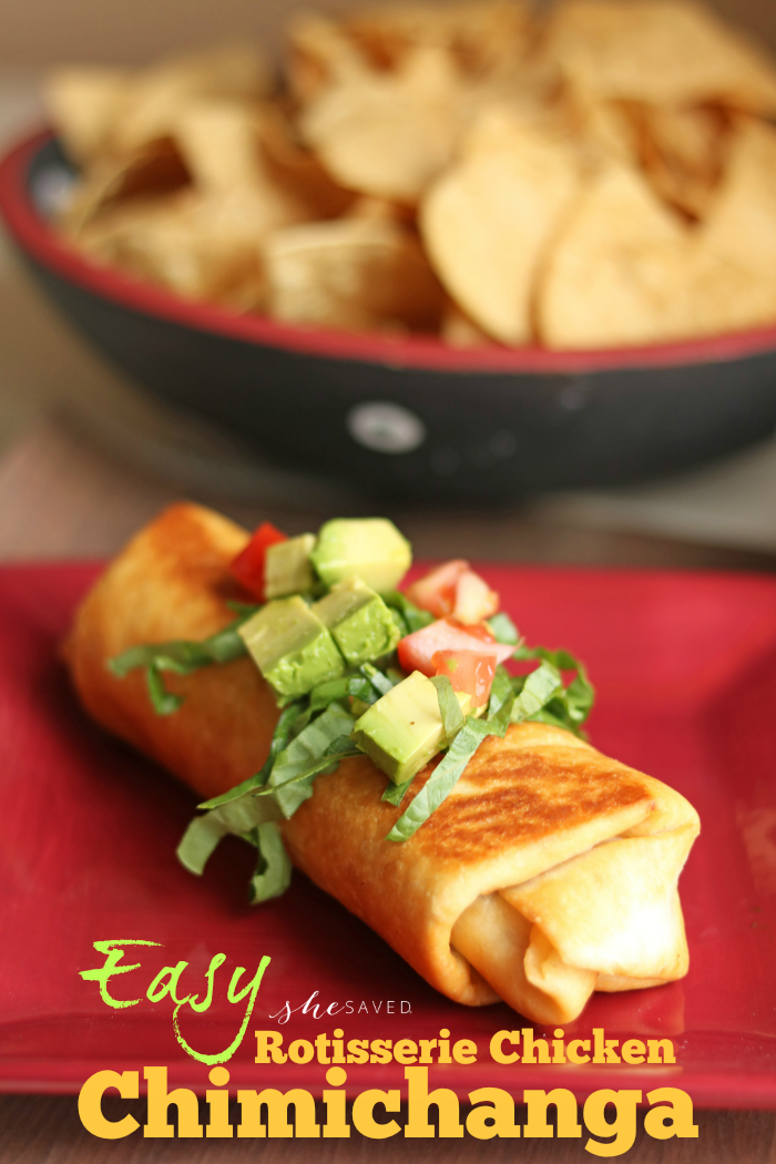 Easy Rotisserie Chicken Chimichanga