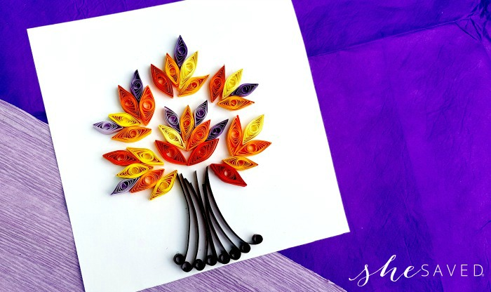 Fall Leaf Quilling