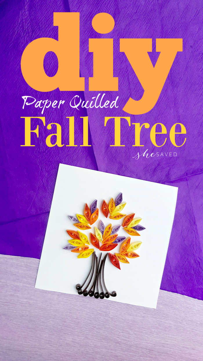 Paper Quilled Fall Tree