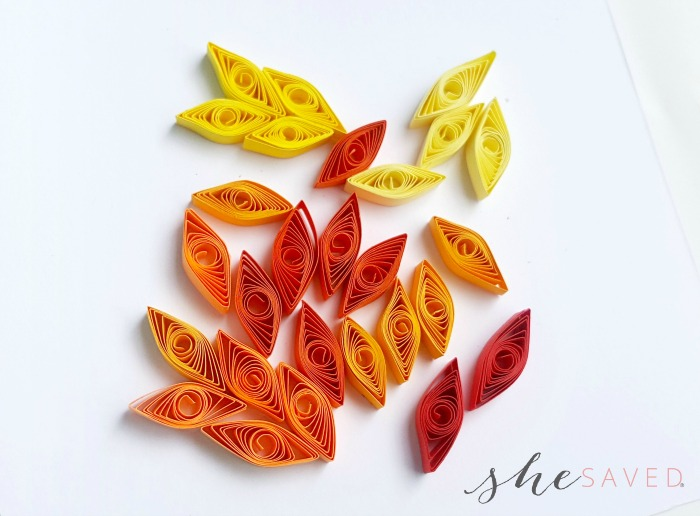 Paper Quilled Leaves