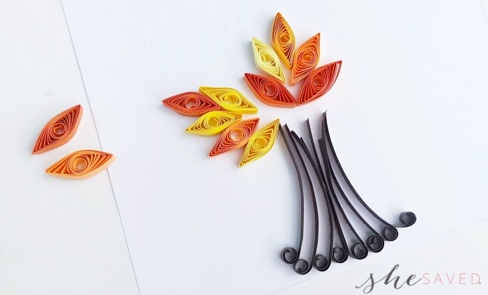 Quilled Tree Craft