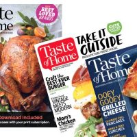 RARE! Taste of Home Magazine Only $4.95 per Year!