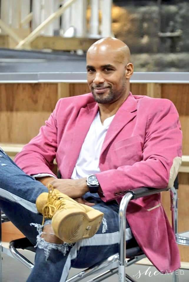 Boris Kodjoe on Set
