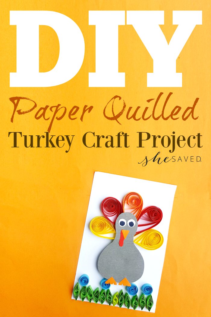 Paper Quilling is so fun and easy to learn and this Quilled Turkey is the perfect Thanksgiving craft project!