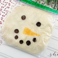 DIY Snowman Playdough Craft