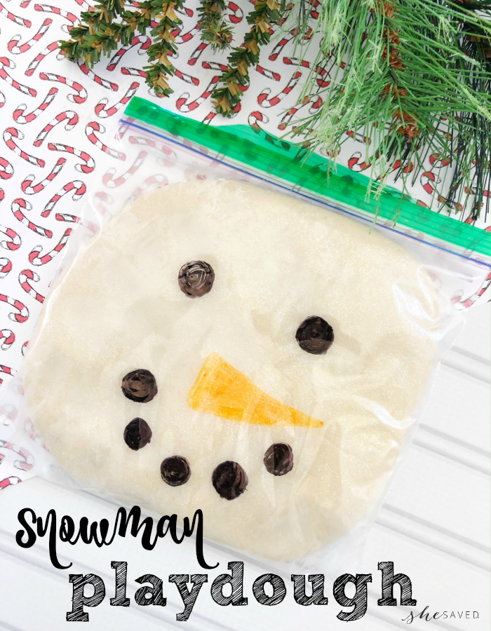 Snowman Playdough Craft