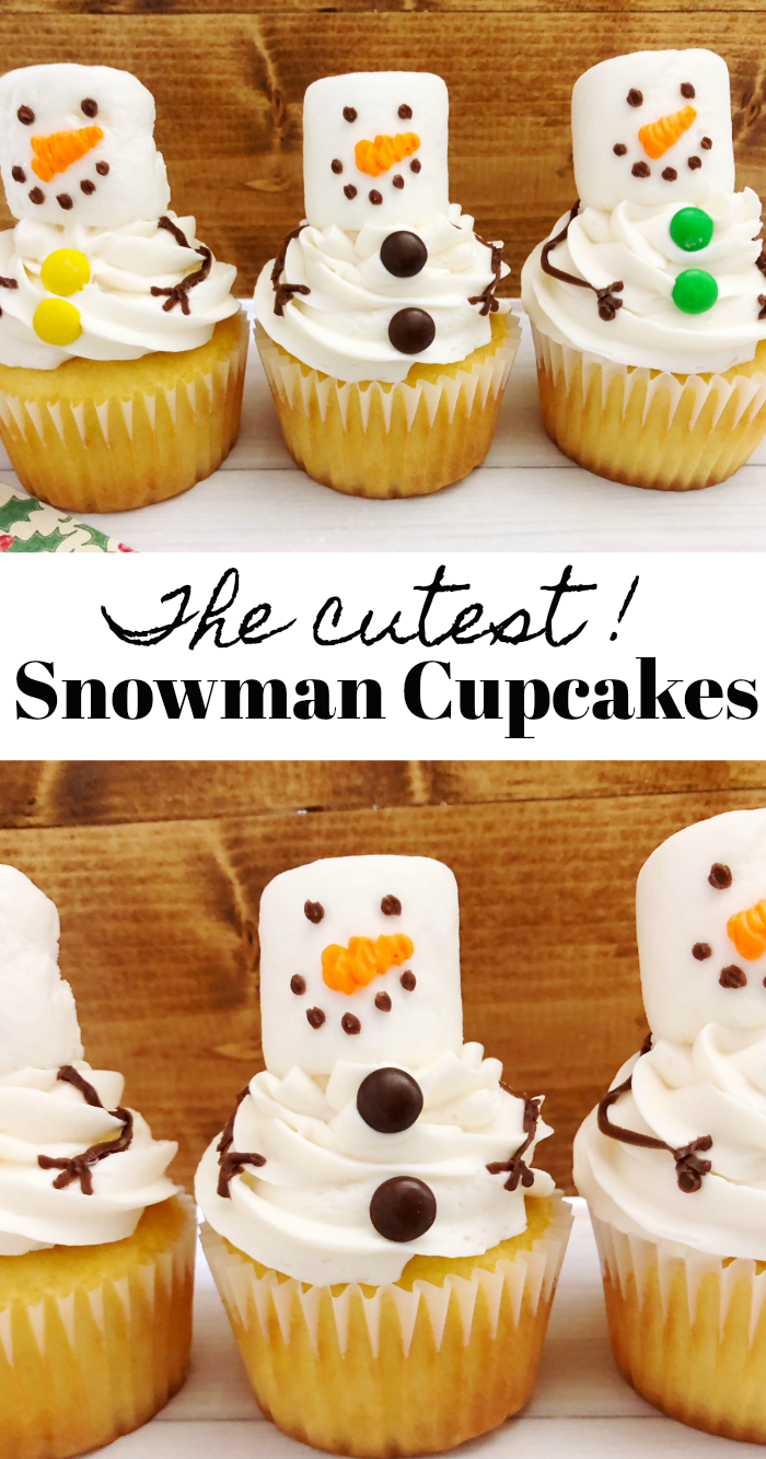 The cutest snowman cupcakes recipe
