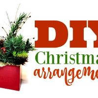 DIY Simple Christmas Arrangement