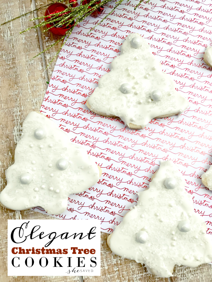 Elegant Christmas Tree Cookies