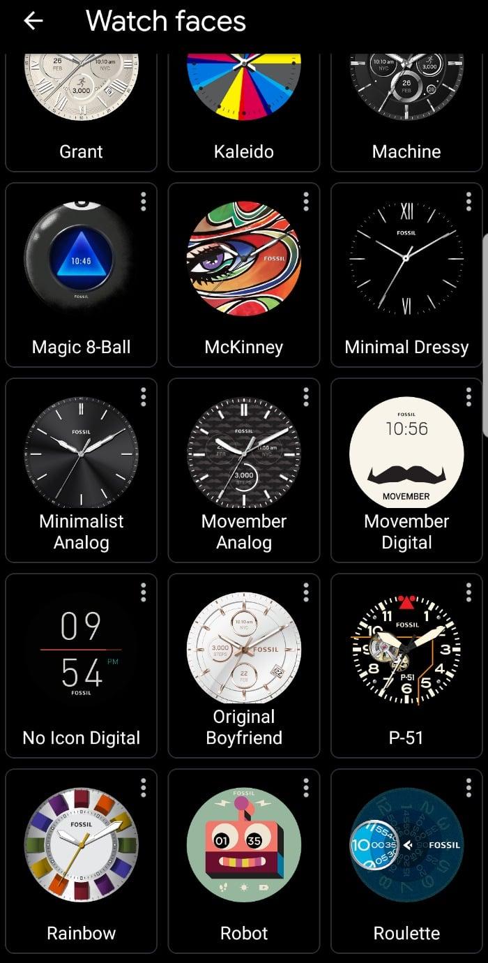 Fossil Gen 4 Venture HR Smartwatch Faces