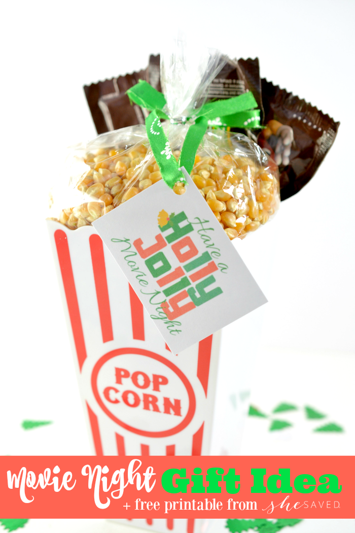 Every thing that you'll need for a fun Movie Night Gift Idea