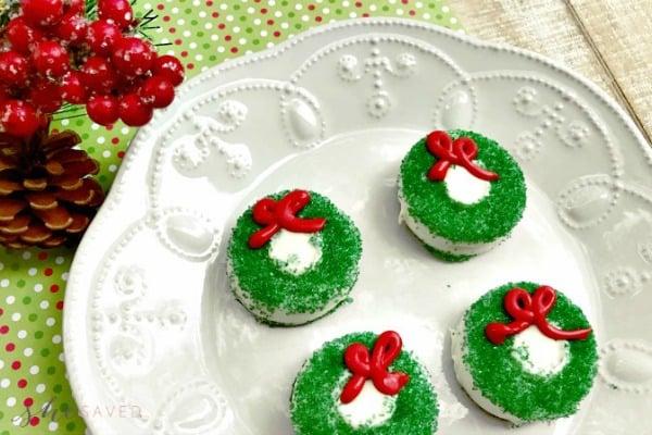 Chocolate Covered Oreo Wreath Cookie