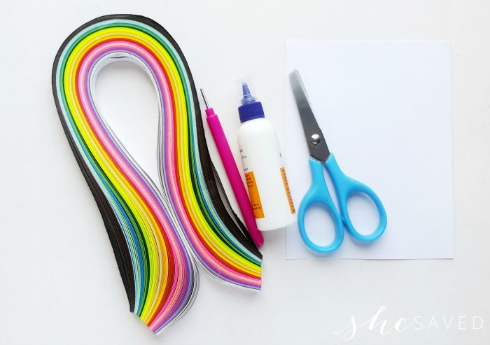Paper quilling supplies