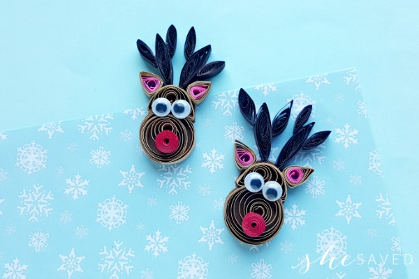 Quilled Rudolph