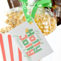 Holly Jolly Movie Night Gift Idea