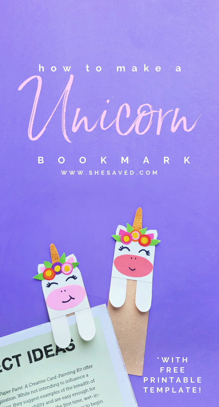 How to make a unicorn bookmark plus free template printable