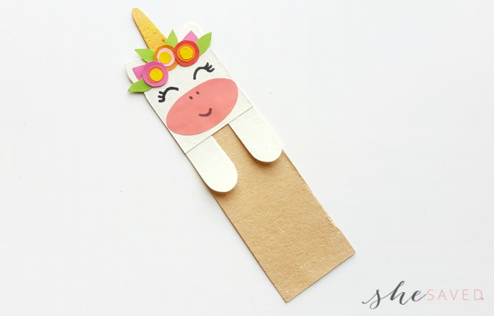 DIY Paper Craft Unicorn Bookmark