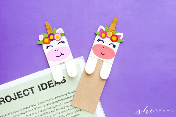 handmade unicorn bookmark