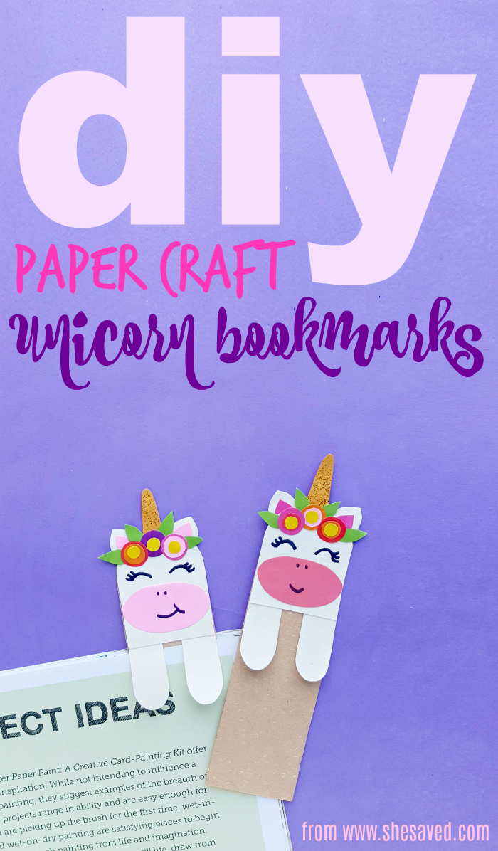 photograph relating to Cute Bookmarks Printable called Do it yourself Unicorn Bookmark (with Totally free printable template) - SheSaved®