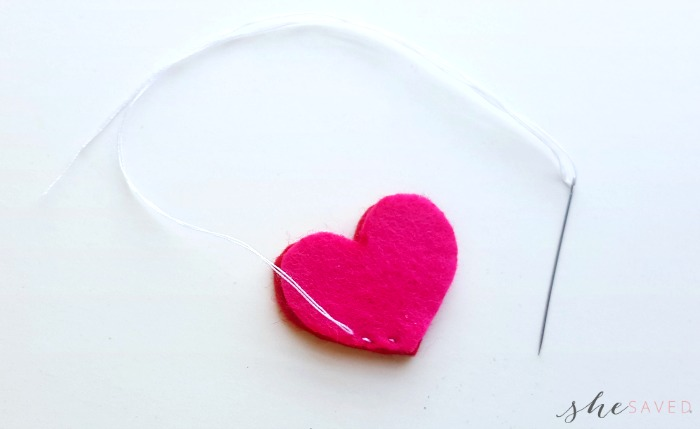 How to sew a felt heart