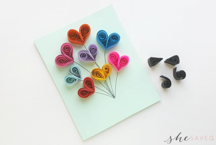 Quilled Paper Hearts