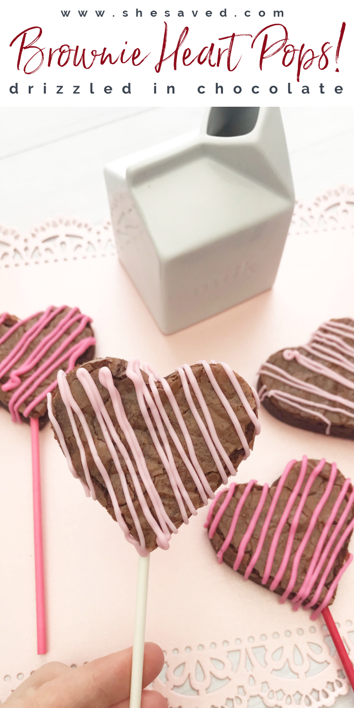 Brownie Heart Pops Recipe for Valentine's Day