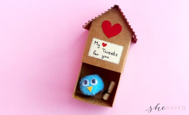 DIY Paper Craft Birdhouse Valentine Tutorial