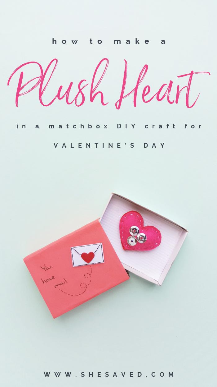 DIY PLUSH HEART VALENTINE