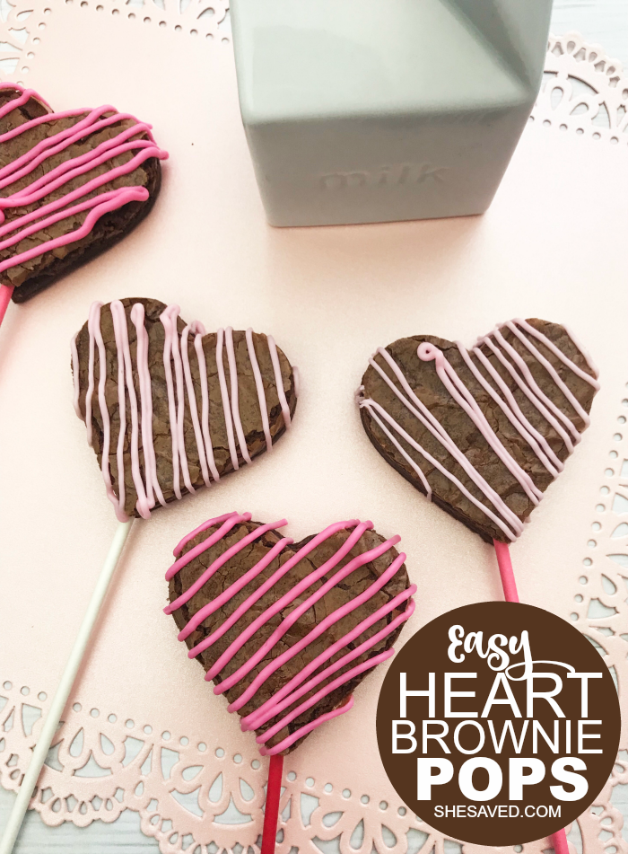 Easy Heart Brownie Pops