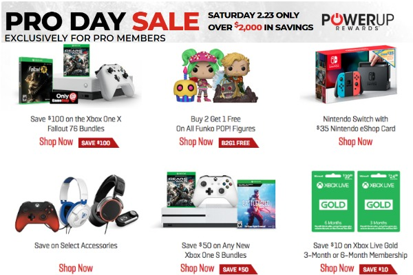 GameStop Pro Day Sale