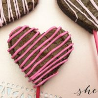 Easy Valentine's Day Heart Brownie Pops